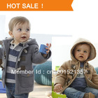 2013 New Boys Winter Jacket Clothes 2 Color Kids Outerwear Coat 95% Cotton Baby  Thick Clothes Children Clothing With Hooded(China (Mainland))