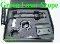 Tactiacl External Adjustable Green Laser Sight Scope for Rifle free shipping