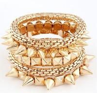 Fashion metal rivets concise temperament elasticity bracelet&bangle / bangle fashion jewelry