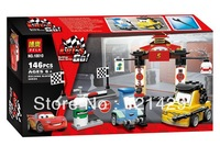 Cartoon Cars Tokyo maintenance station Bela 10010 building blocks 3D DIY educational toys;Compatible with LEGO;FREE SHIPPING
