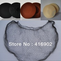 wholesale brand new 100pc/lot black / brown / blonde  Invisibale nylon hair net for wigs / hair wear / hair ornament / net cap