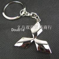 Wholesale Double faced MITSUBISHI keychain , MITSUBISHI car 4s , MITSUBISHI key chain , MITSUBISHI emblem