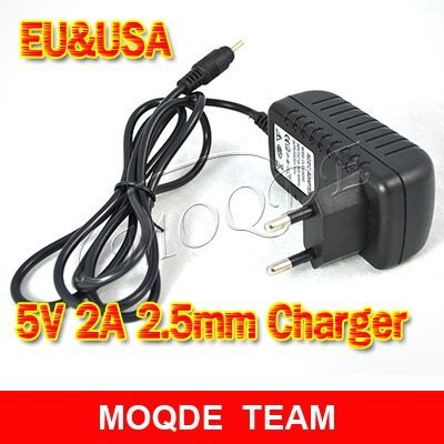 5PCS/lot EU USA Plug Charger Power Adapter 5V 2A 2.5mm Charging port for Hero II,forPIPO M9 3G,Sanei N10,Ampe A10 Tablet PC(China (Mainland))