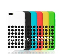 Wholesale - For Apple iphone 5C 5G 5S Circle Hollow Fashion Dots Cover case Soft Colorful TPU Silicone Back Case 10pcs/lot