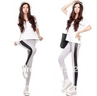 2013Han edition on both sides of the spell leather character elasticity soft feet nine minutes of pants show thin panty