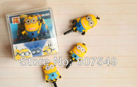 3D Cute Despicable Me Minions Dust Plug, 3.5MM Univesal Earphone Dust Plugs For Your Phone