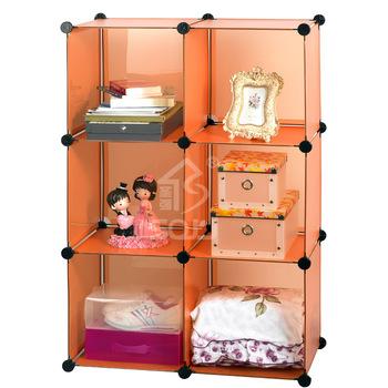 Wardrobe storage rack clothing storage wardrobe finishing frame tools three-color