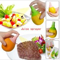 Free shipping 2pcs/set Lemon Juice Sprayer Citrus Spray Mini Squeezer Hand Juicer
