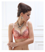 Free shipping.Fashion thin cup lace embroidery printing sexy push up bra sweet women's underwear X0307.