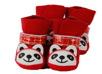 Rain boots pet soft sole shoes cotton-padded shoes dog shoes pet shoes cat shoes teddy vip