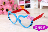 Kid Sunglasses Frames, 10pcs/lot with Glasses bags Children Eyewear, Plastic eyeglasses,  Hello Kitty Heart ,Free shipping YJ06