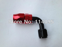 New Arrival ! Black & Red 90Degree Oil Cooler Fuel Line Hose End Fitting -8AN 8-AN Hose Fitting AN8