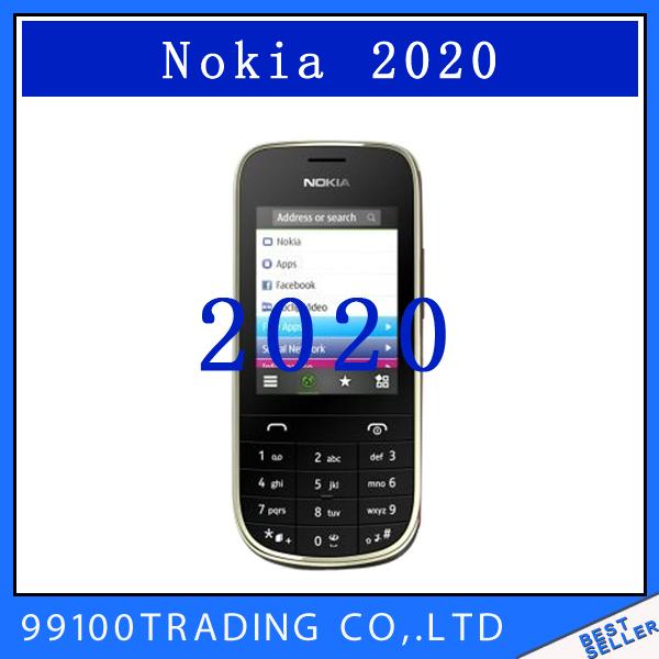 2020 Original Nokia Asha 2020 Unlocked Mobile Phone Wholesale In Stock Refurbished(China (Mainland))