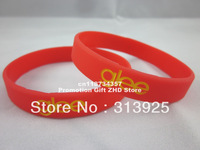 Personalized design silicon wristband, custom logo silicon bracelet, filled in colour, promoiton gift, 100pcs/lot