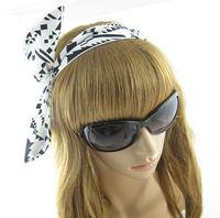 Black Geometric Print  Women's  Hair Accessory  Fashion  Rabbit  Ear  Hair Band