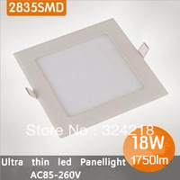 18w led ceiling lights,AC85~265V,white shell,warm/cool white,square led ceiling lamp,2835 90smd led CE/RoHS,free shipping