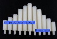 Free shipping Purchase select size .single head screw hexagon nylon column pillar plastic spacers M3 * 5 +6- M3 * 50 +6.