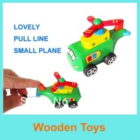 Free Shipping 1 PCS Wooden Pull line/Pull back Small Plane Toys/Wooden toys/Educational Toys For Christmas and New Year gifts