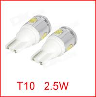 2.5W High Power White 4 SMD LED Car T10 W5W 194 927 161 Side Wedge Light Lamp Bulb,2pcs/lot,NEW