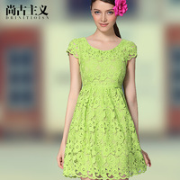 Good quality and brand new skirt comfortable 2013 slim design lace dress short-sleeve sweet princess skirt