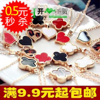 4303 small fashion accessories four leaf clover love necklace chain necklace
