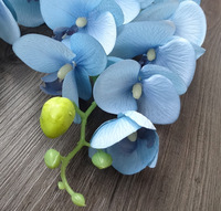 Quality artificial flowers phalaenopsis glue fashion vintage butterfly orchid silk flower artificial flower decoration flower