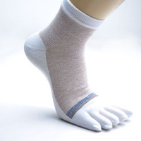 Male toe socks 100% cotton toe socks antibiotic anti-odor toe socks five fingers socks 5.80
