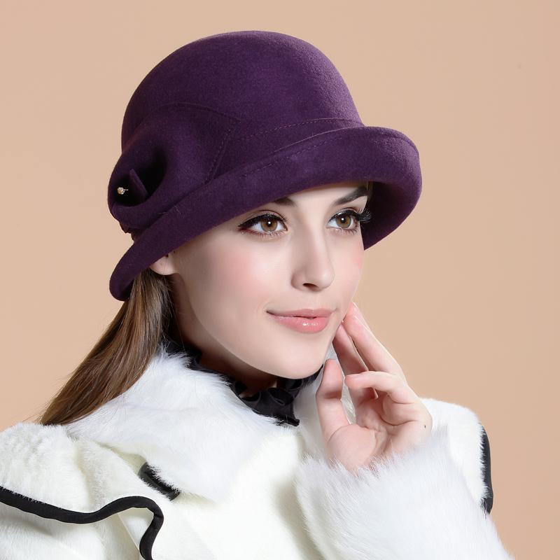 Princess fashion vintage fedoras winter woolen women's hat autumn winter hat female(China (Mainland))