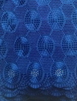 Free Shipping+Cotton voile with stones,Swiss voile lace, African lace , cotton lace,5yards/piece, BIG LACE, ROYAL BLUE_WHITE