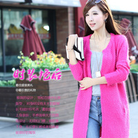 2013 autumn women's autumn sweater outerwear female thickening loose wool cardigan sweater female