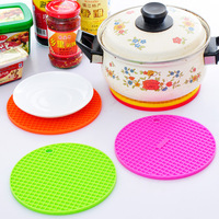 Eco-friendly thickening multifunctional silica gel heat pad slip-resistant placemat coasters pot holder disc pads g076