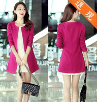 women's dress Slim medium-long 9011 brief suit female women's Sweater Red cardigan dress