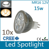 Factory price 10pcs High quality 12W MR16  9w 12w  15w warm cool pure White LED Light Spotlight Spot Light Free Shipping