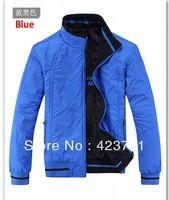 wholesale New Men's Jacket Fashion Brand Double-Sided Wear Waterproof Outerwear Man Jacket Color Blue Black Size:XL-4XL