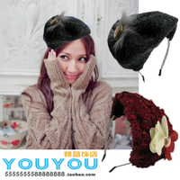 Woolen smoke bow small fedoras hair bands hat hair bands hair accessory hair accessory