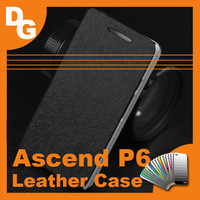 Huawei Ascend P6 Case 10pcs/lot High Quality Fashion Flip Leather Case For Huawei Ascend P6 Android Phone