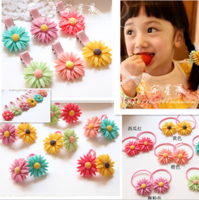 new 2013 Child hair accessories,girls hairpins,korean princess hair bow,6 color, chrysanthemum hair rope hairpin   Free shipping