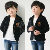 2014 autumn preppy style boys clothing baby child fleece suit child jacket man wt-0519 kids cheerleader costume