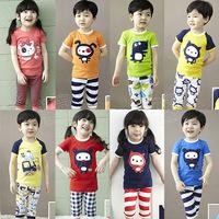 dresses new fashion 2014 summer boys girls clothing sets short-sleeve T-shirt underwear free shipping