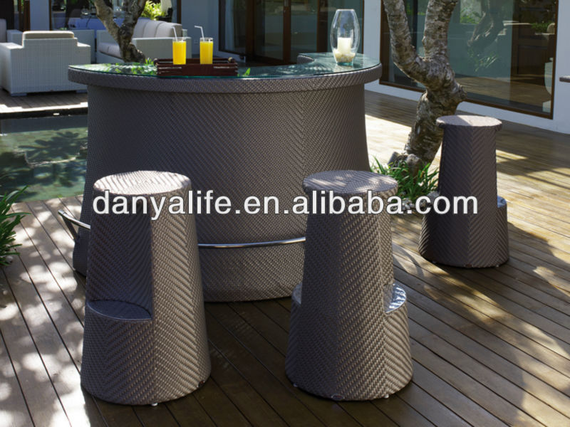 Dybar D4304 Danya Garden Bar Set Bar Stools Tables Outodor Bar Set Outdoor Furniture