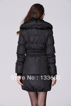 ETAM / Iger genuine special fashion boutique plaid long down jacket 110135037-71 1,199 yuan