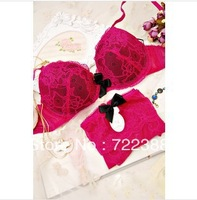 New 2013 hot sale lingerie underwear push up lace bra french brand women sexy bra and panty set gather cup bra sets (MA014)