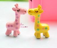 Gift For Girls 2 PCS Pink & Yellow BABY Giraffe TOY Dollhouse Miniature Furniture