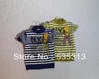 all $15 free shipping baby boy letter stripe pullover children longsleeve Sweater baby winter clothes 2 colours Children sweater