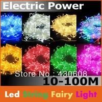 New  10M 110V/220v  100 LED Christmas Tree Wedding Fairy Colorful String Lights