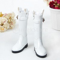 Free Shipping 1/4 BJD Back Zip Shoes Tall Boots Fit MSD DOD LUTS 013 - White