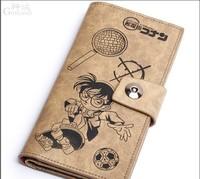 Free shipping  Long detective conan pattern man purse