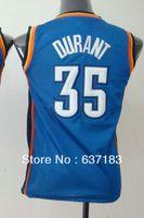 Kids Cheap Oklahoma KD #35 Kevin Durant Blue/White Basketball Jersey,2013 New Season Boys Popular Sports Shirt,Embroidery Name