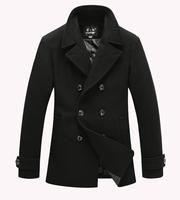 hooded man autumn coat winter men's long jacket with hood jacket winter is long man fashion wool  fashion wool coat men