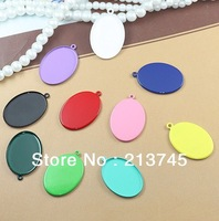 Free shipping!!100pcs/lot (Fit18* 25mm)   Pendant Tray Base  Setting charm Pendant blank DIY Jewelry Accessories